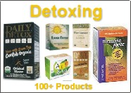 Detoxing products - over 100 products