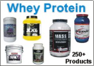 TripleClicks Products: Whey protein powders - over 250 products...